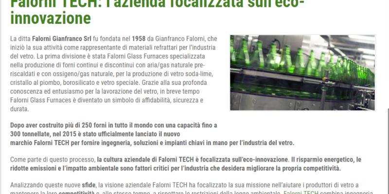 Our Eco Glass Innovation on Impronta Unika