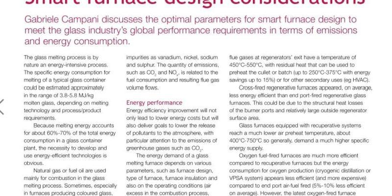 Melting technology in design of a smart furnace