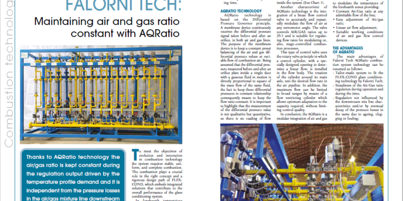 AQRatio on Issue 01/21 of Glass Machinery and Plants